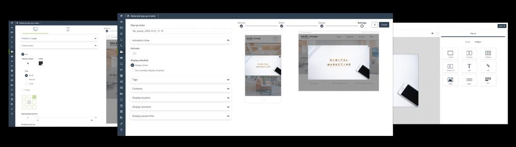 [Nueva funcionalidad] Convierte y consigue más clientes nuevos gracias a las robustas posibilidades ofrecidas por Custom Modal Designer que permiten la hiperpersonalización de la página web con ventanas emergentes avanzadas con amplias posibilidades de configuración